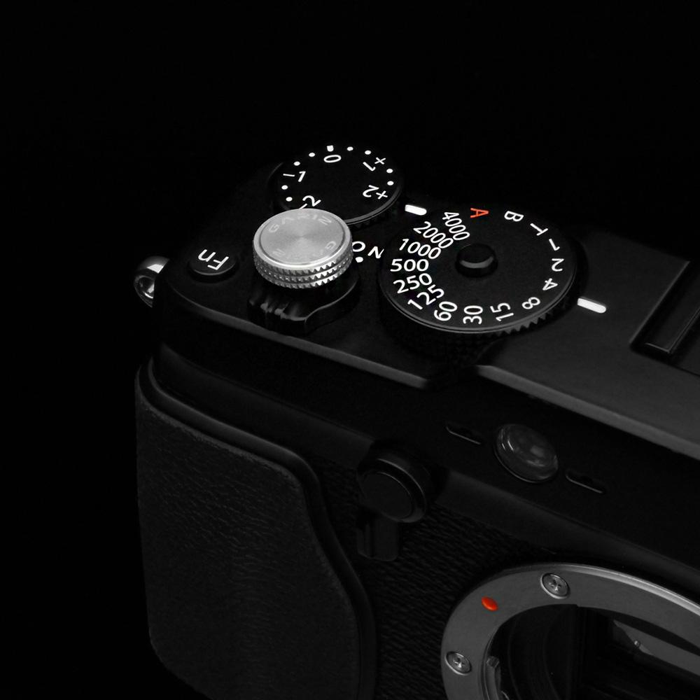 GARIZ ソフトレリーズボタン ネジ式 12mm シルバー XA-SBA2