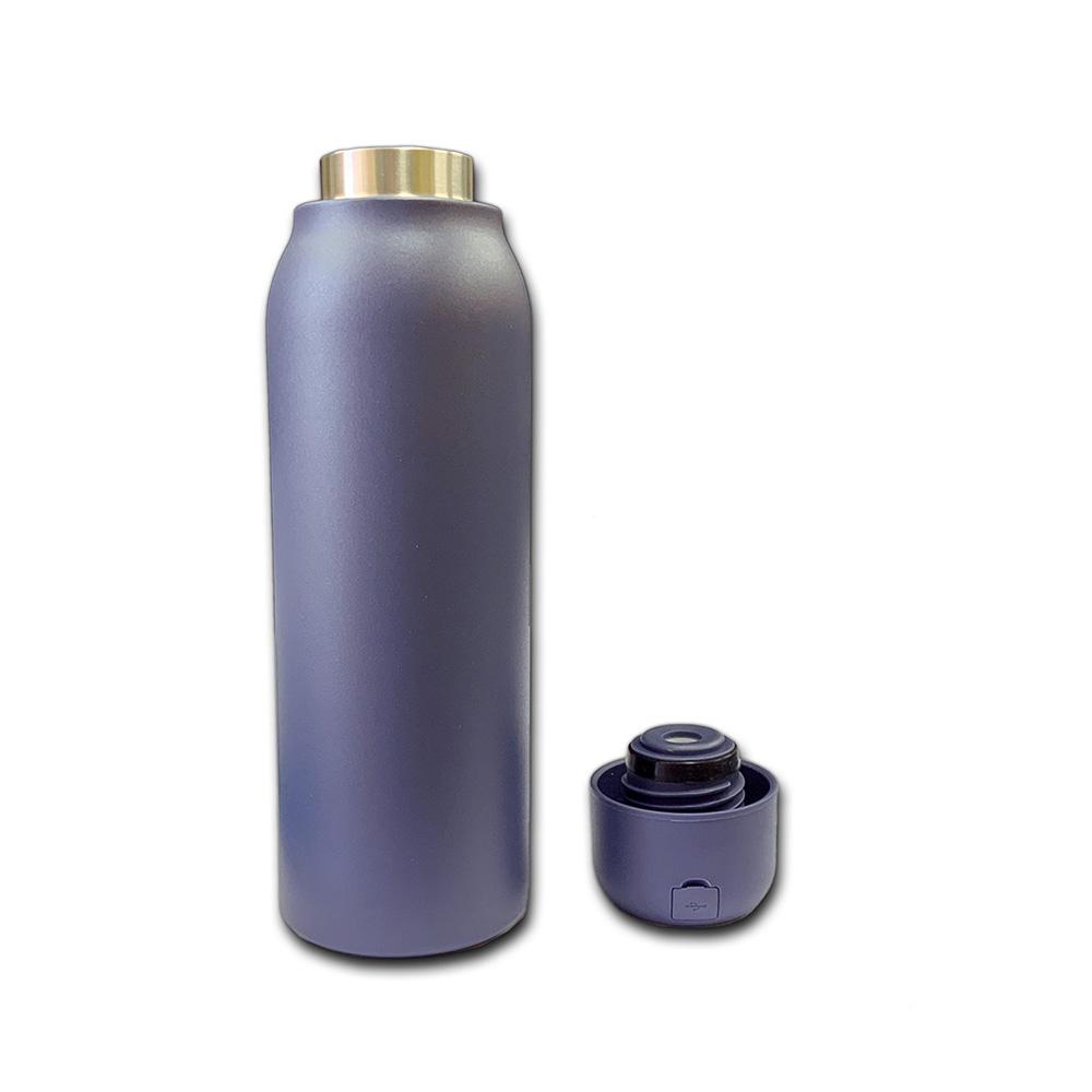 UVC-LED(深紫外線)チップ内蔵 殺菌機能付ボトル(水筒) ネイビーブルー