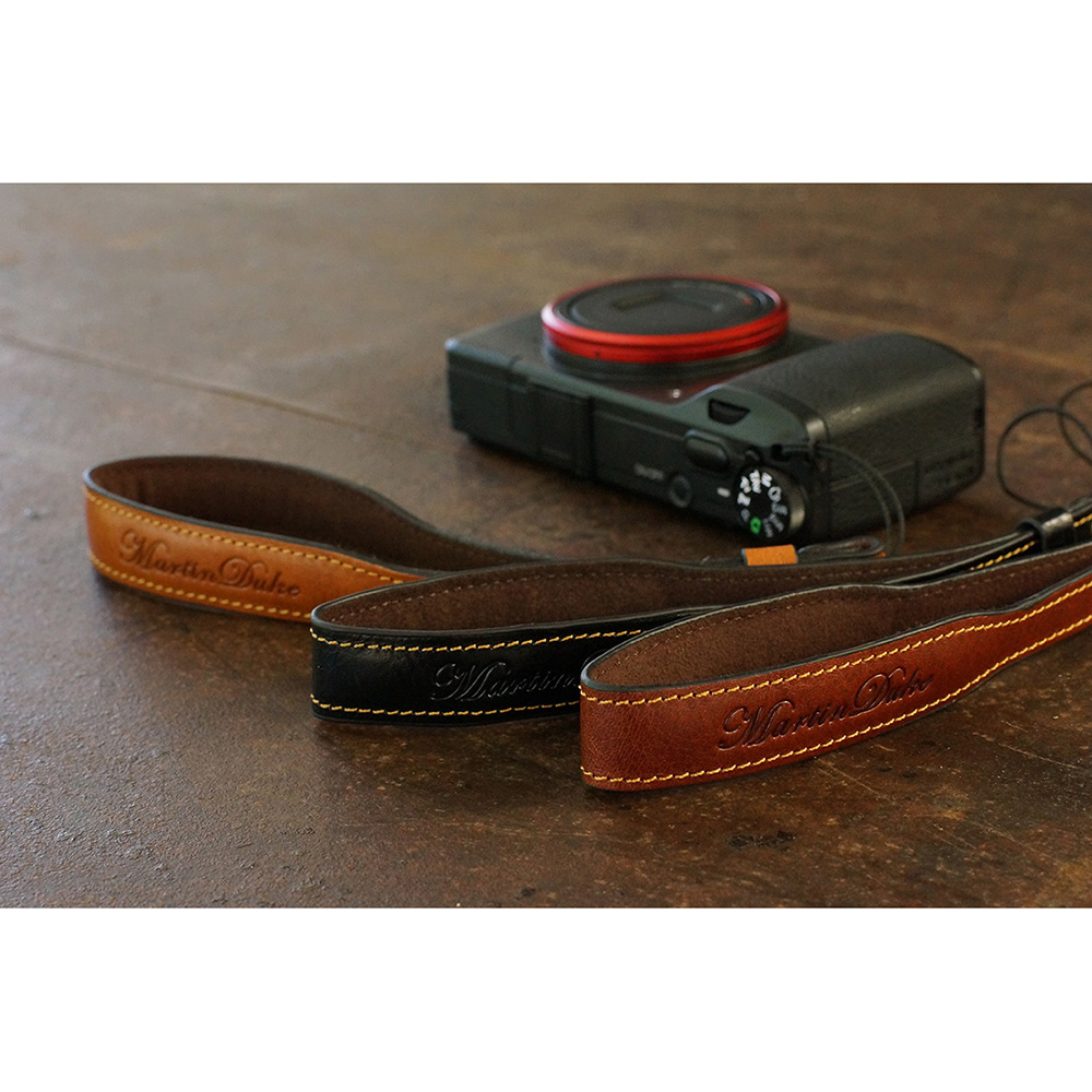 Martin Duke ミラーレス&コンパクトカメラ用ハンドストラップ Sven I Leather Hand strap Red Brown DH01RB