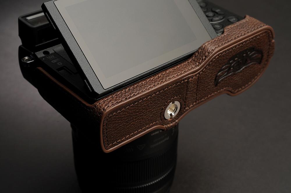 TP Original Panasonic LUMIX GX7 Mark III 用 ボディーハーフケース ダークブラウン