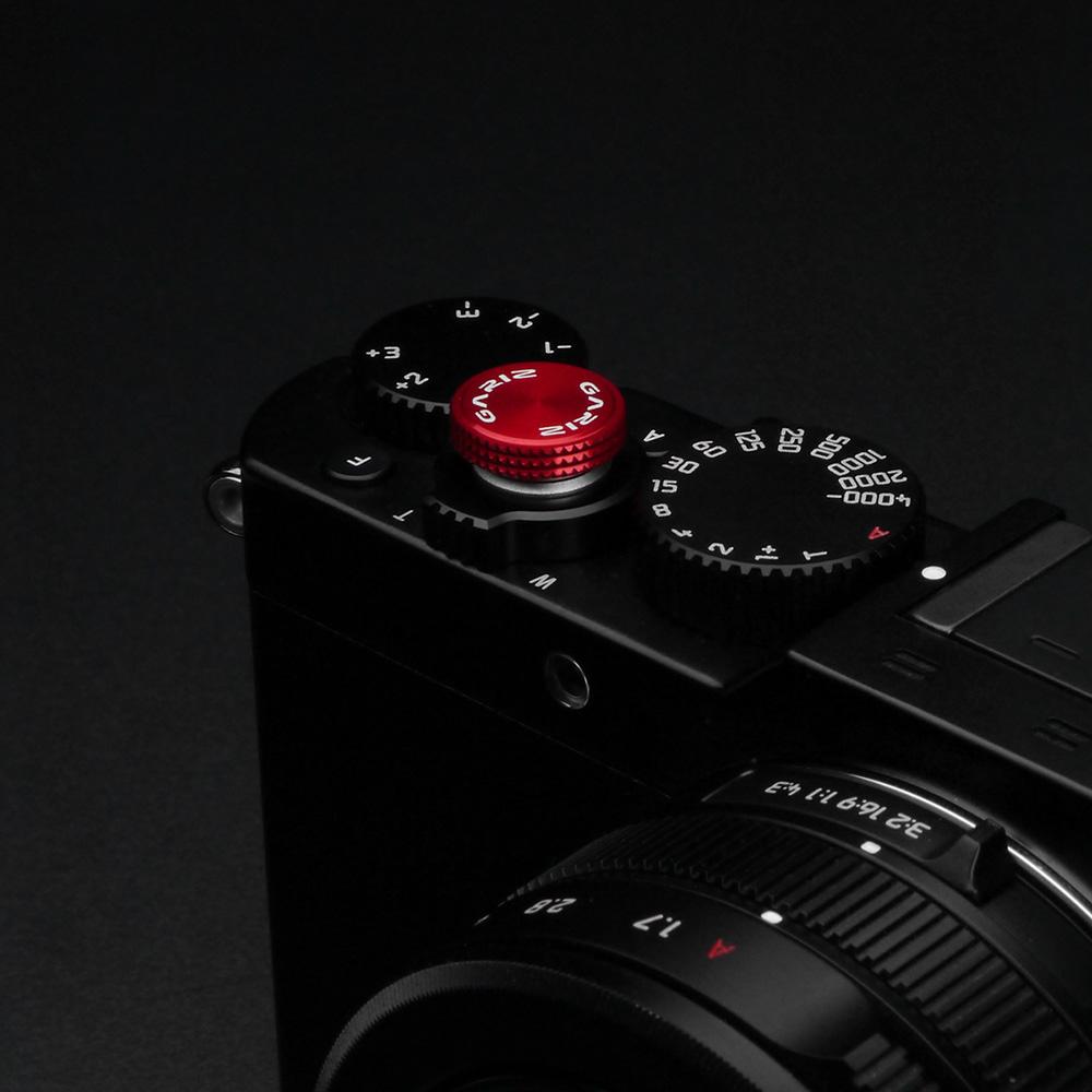 GARIZ ソフトレリーズボタン(貼付けタイプ) 12mm レッド XA-SBA6