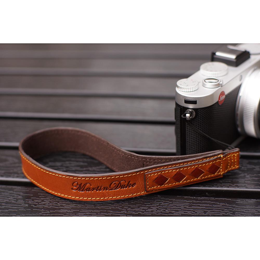 Martin Duke ミラーレス&コンパクトカメラ用ハンドストラップ SVEN Weave Leather Hand strap Light Brown DH11LB