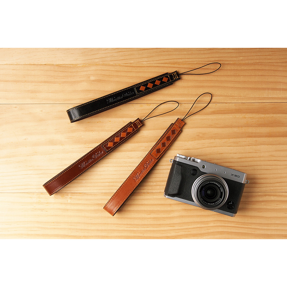 Martin Duke ミラーレス&コンパクトカメラ用ハンドストラップ SVEN Weave Leather Hand strap Red Brown DH11RB