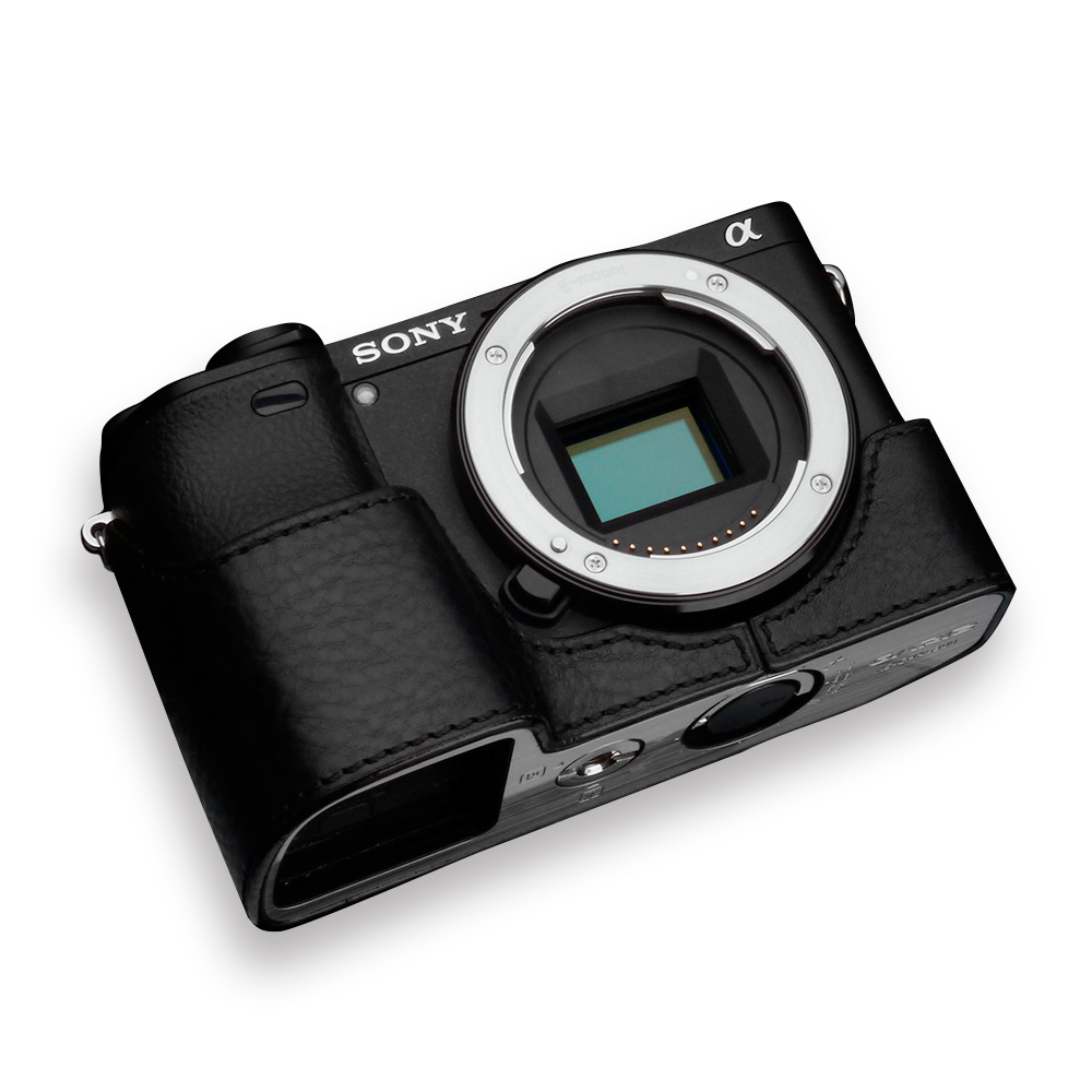 GARIZ SONY α6400/6300 兼用 本革カメラケース XS-CHA6400BK ブラック