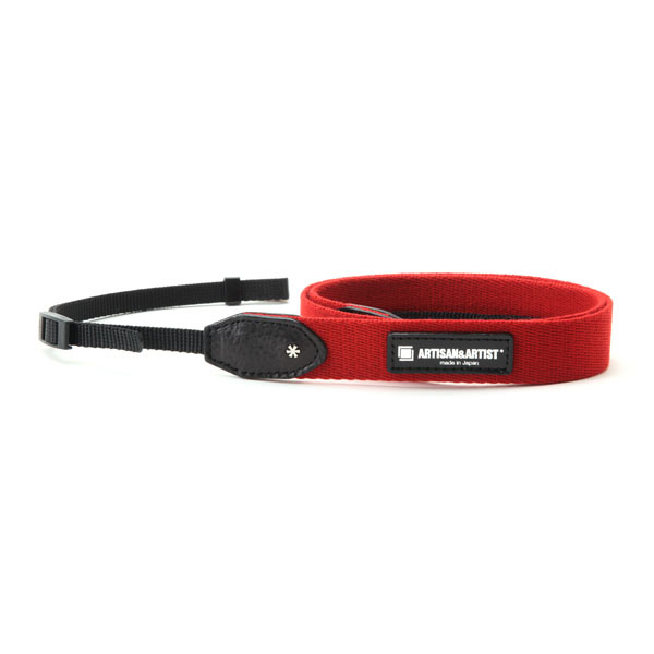 アルティザン・アンド・アーティスト ARTISAN&ARTIST ACAM-110A RED スタッズ付きカメラストラップ スリム レッド