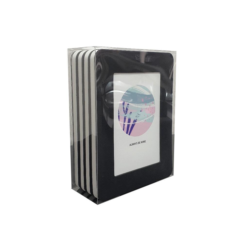 thehaki L判サイズ用 サンドイッチフレーム 4P セット (ブラック)