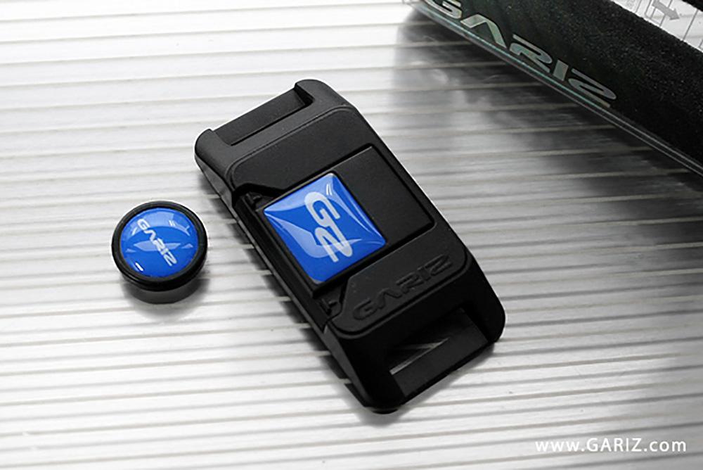 GARIZ ホットシューカバー ソフトボタン(シール式レリーズボタン)セット XA-SP1 ブルー