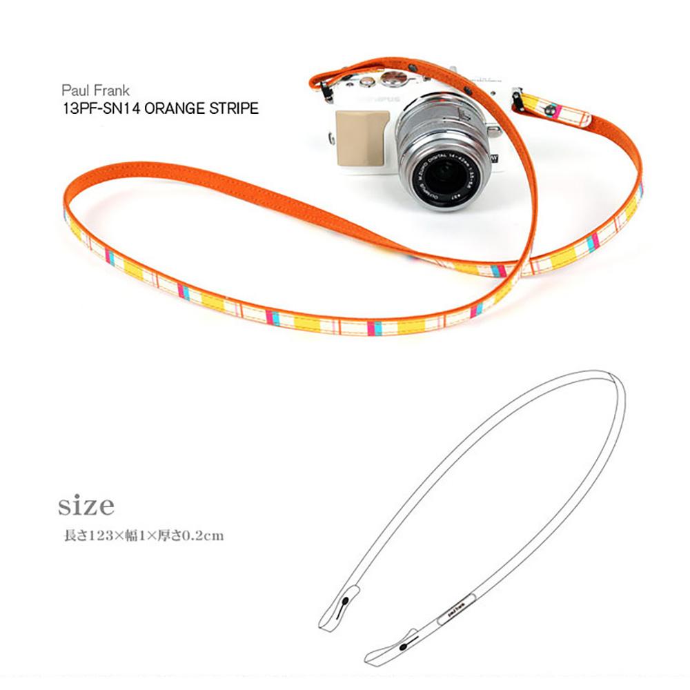 paul frank/ポールフランク ミラーレスカメラ/コンパクトデジカメ用 ネックストラップ 13PF-SN14 Orange Stripe オレンジ ストライプ