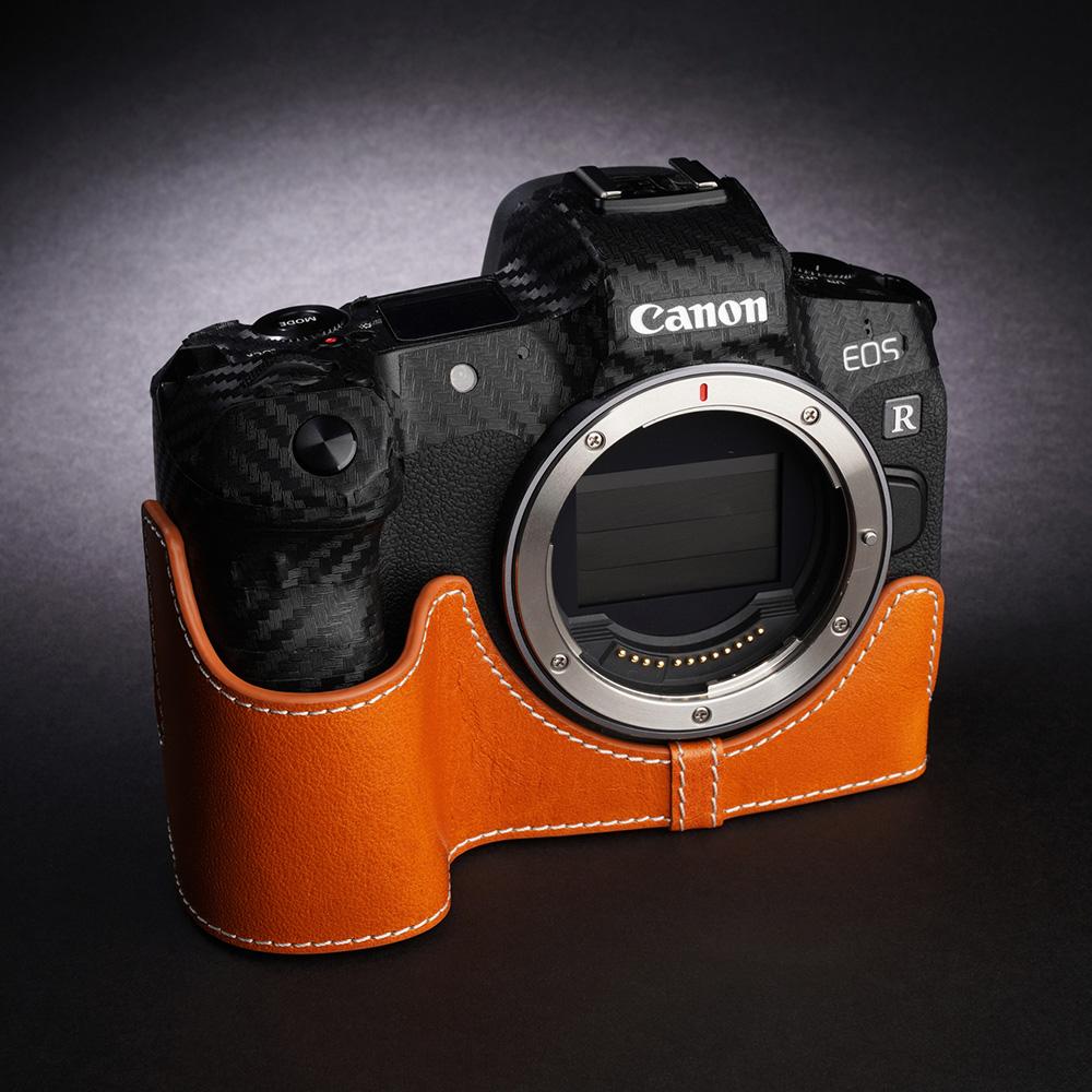 TP Original Canon EOS R 用 ボディーハーフケース オレンジ