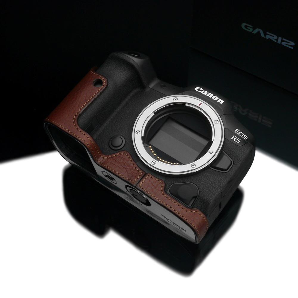 GARIZ Canon EOS R5/R6 兼用 本革カメラケース XS-CHEOSR5BR ブラウン