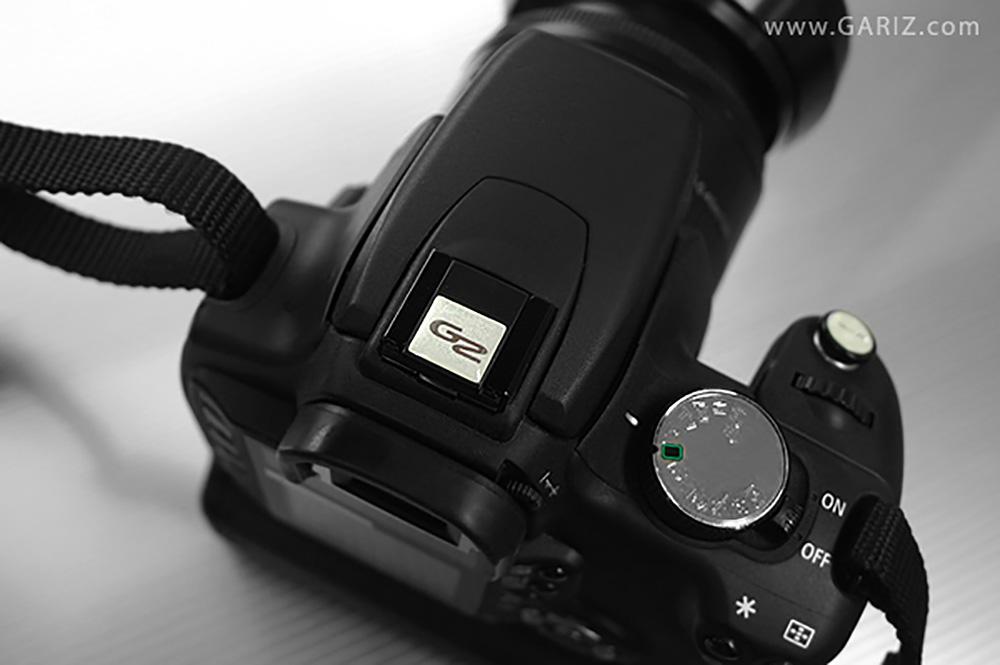 GARIZ ホットシューカバー ソフトボタン(シール式レリーズボタン)セット XA-SP1 ホワイト