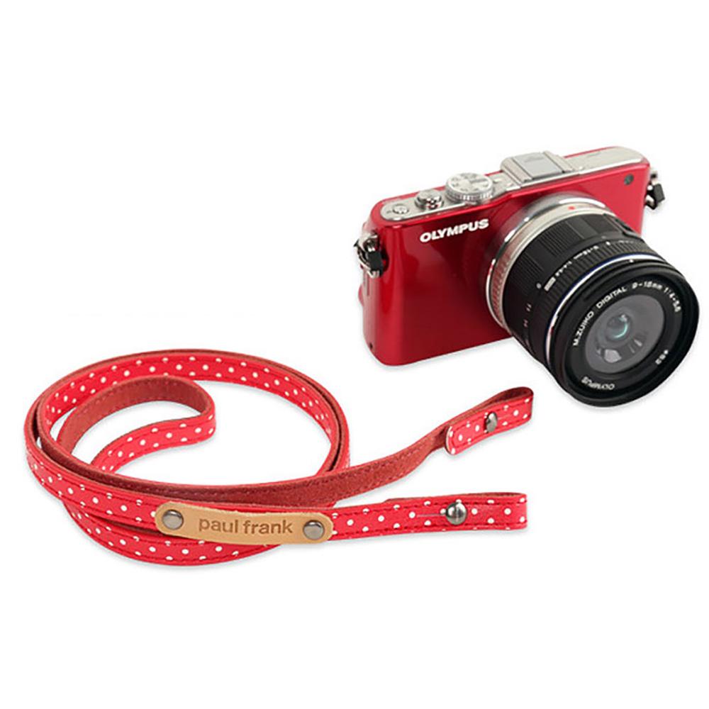 paul frank/ポールフランク ミラーレスカメラ/コンパクトデジカメ用 ネックストラップ 13PF-SN15 Red Dot レッド ドット
