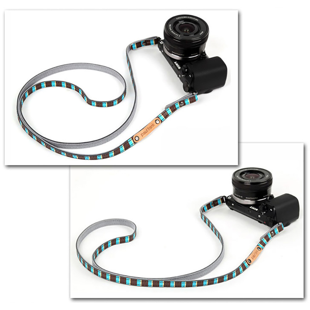 paul frank/ポールフランク ミラーレスカメラ/コンパクトデジカメ用 ネックストラップ 13PF-SN18 Blue Stripe ブルー ストライプ