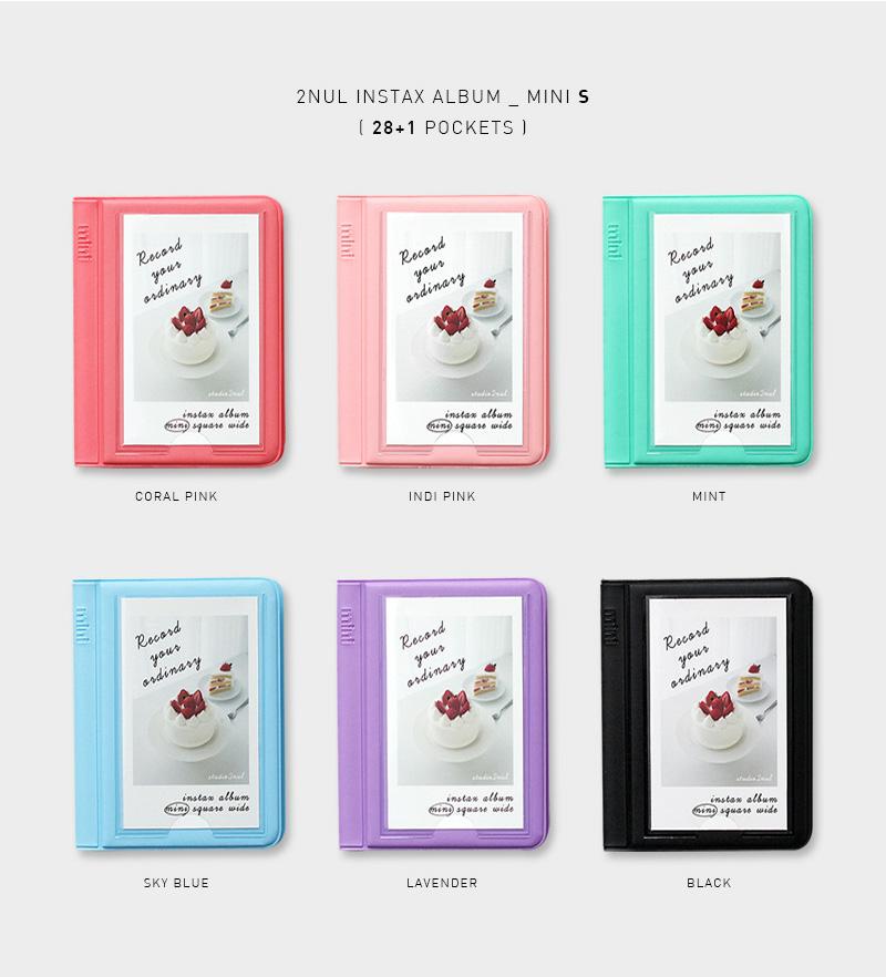 2NUL チェキアルバム INSTAX ALBUM MINI S(28枚収納+表紙1枚)