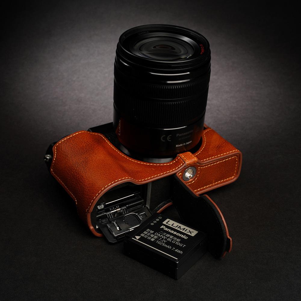 TP Original Panasonic LUMIX GX7 Mark III 用 ボディーハーフケース ライトブラウン