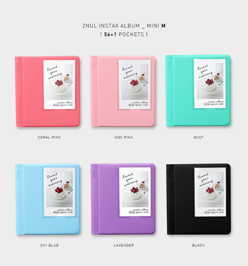 2NUL チェキアルバム INSTAX ALBUM MINI M(56枚収納+表紙1枚)