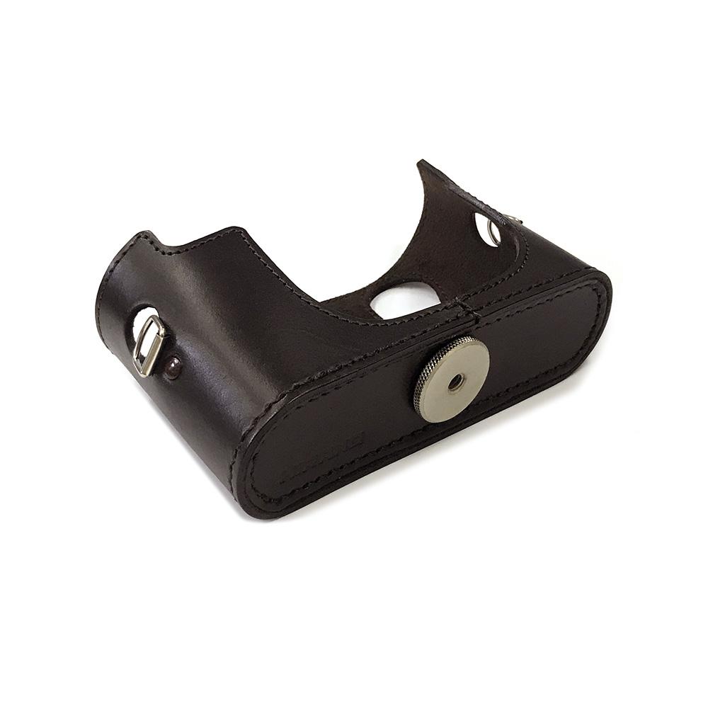 カメラ.ヒラノ Leica ライカ M8/M8.2用 ハンドメイド本革カメラケース(ストラップ付属) ブラウン