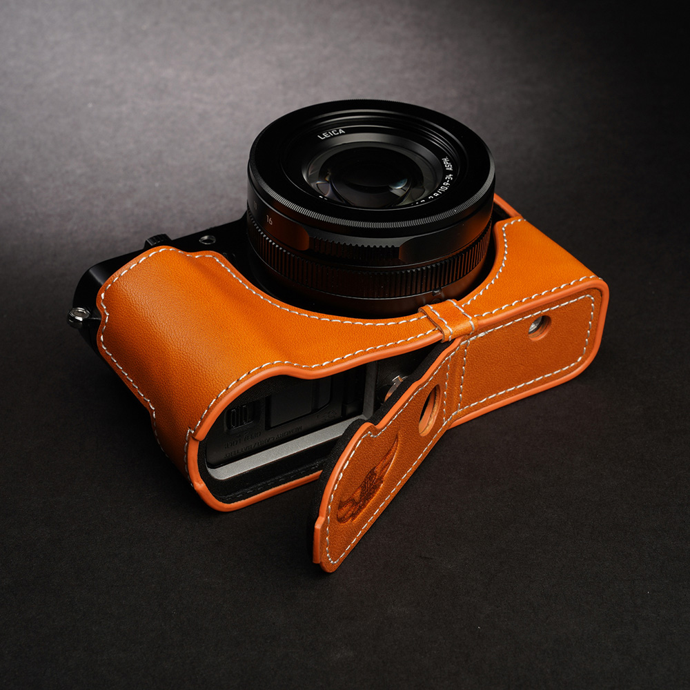 TP Original Panasonic LUMIX LX100II 用 ボディーハーフケース オレンジ