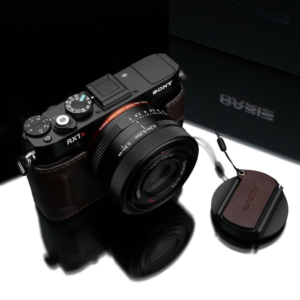 GARIZ SONY RX1/RX1R用 レンズキャップフィックス XA-CFRX1BR ブラウン