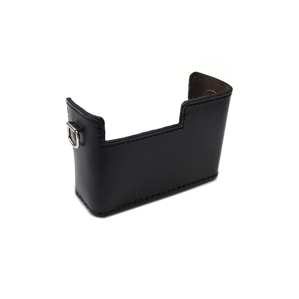 カメラ.ヒラノ Rollei ローライ 35/35S用 ハンドメイド本革カメラケース(ストラップ付属) ブラック