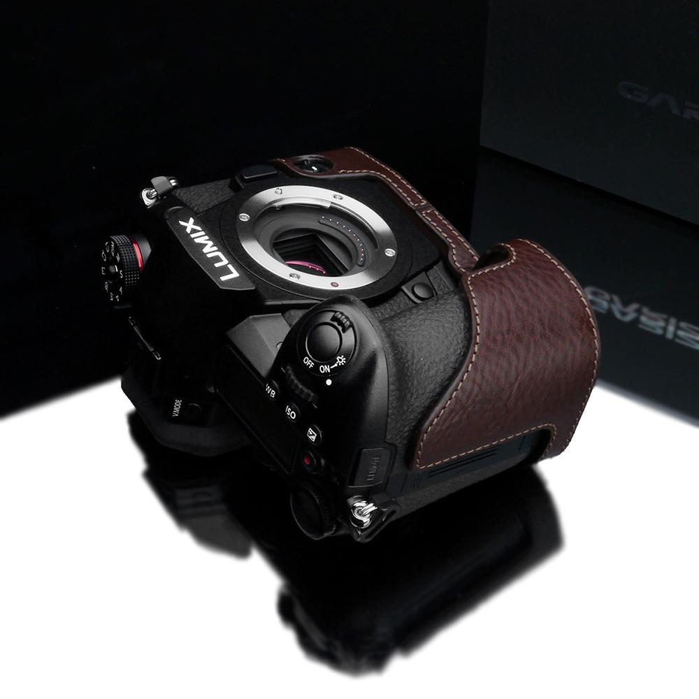 GARIZ Panasonic LUMIX G9 PRO(DC-G9)用 本革カメラケース XS-CHG9BR ブラウン