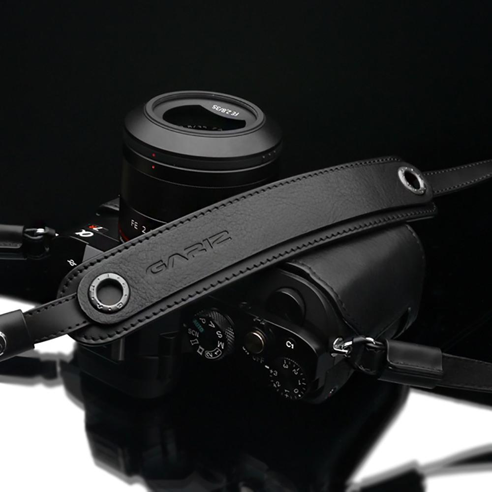 GARIZ 本革カメラネックストラップ XS-CHLSNBK2 ブラック