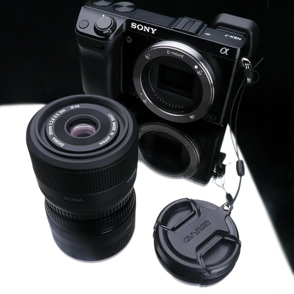 GARIZ SIGMA 46mm用 レンズキャップフィックス XA-CFSMBK ブラック