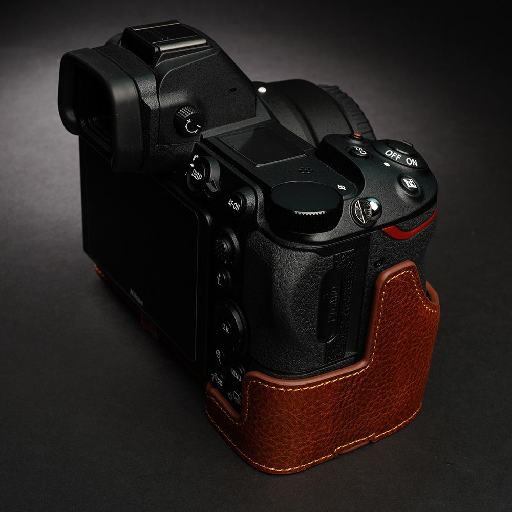 TP Original Nikon Z7/Z6 用 ボディーハーフケース ライトブラウン