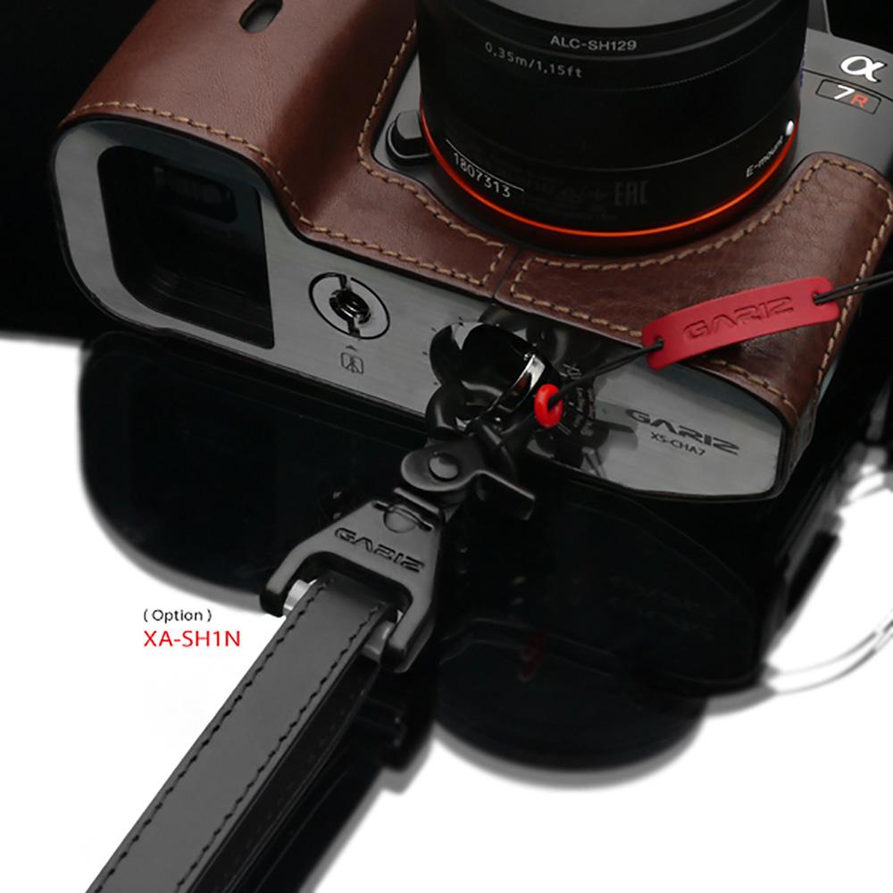 GARIZ 本革カメラネックストラップ XS-CHLSNBR2 ブラウン
