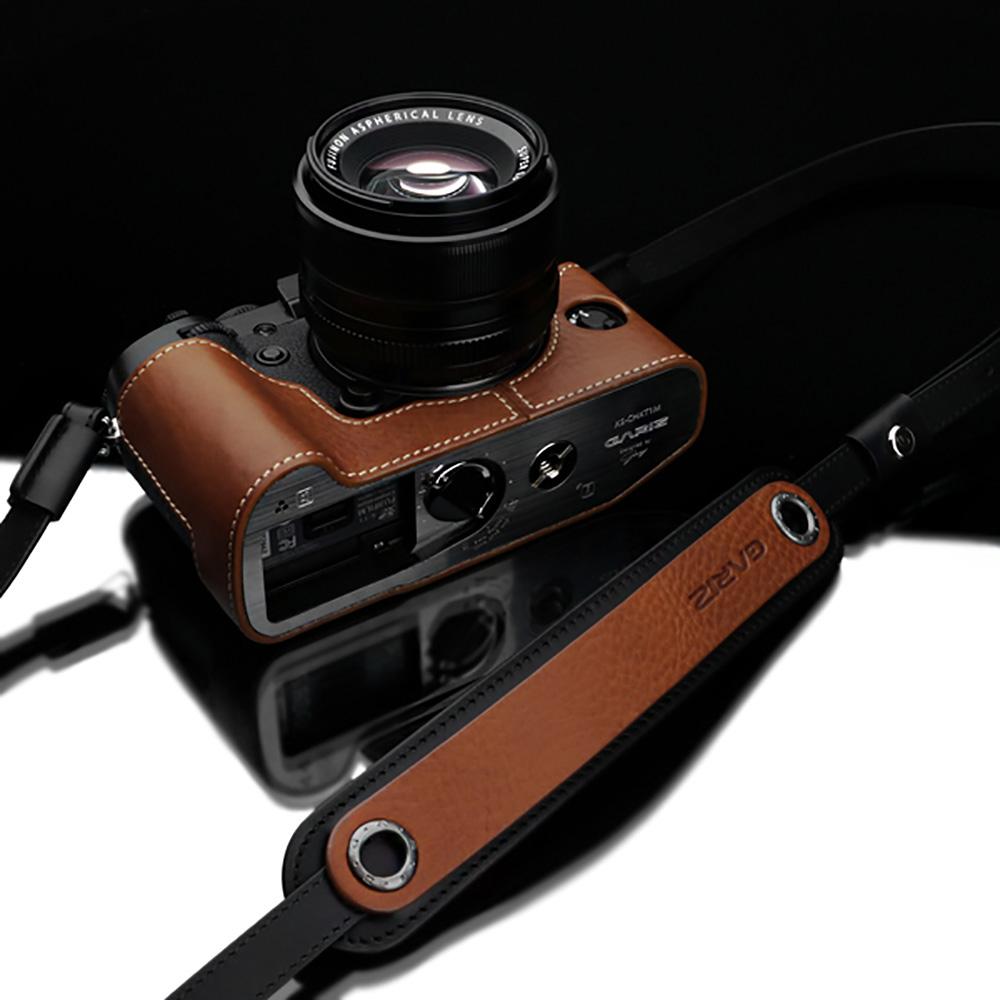 GARIZ 本革カメラネックストラップ XS-CHLSNCM2 キャメル