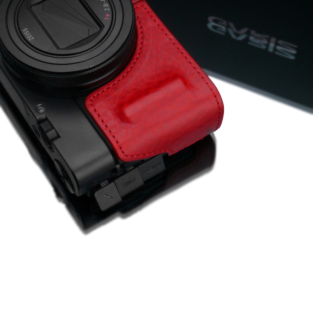 GARIZ SONY RX100 VII(DSC-RX100M7) 用 本革カメラケース HG-RX100M7R レッド