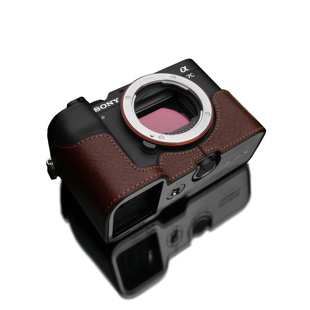 GARIZ SONY α7C 用 本革カメラケース XS-CHA7CBR ブラウン