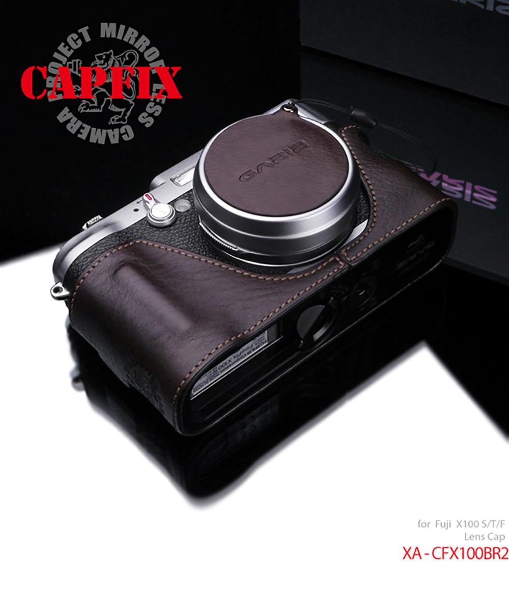 GARIZ FUJIFILM X100S/X100用 レンズキャップフィックス XA-CFX100BR2 ブラウン