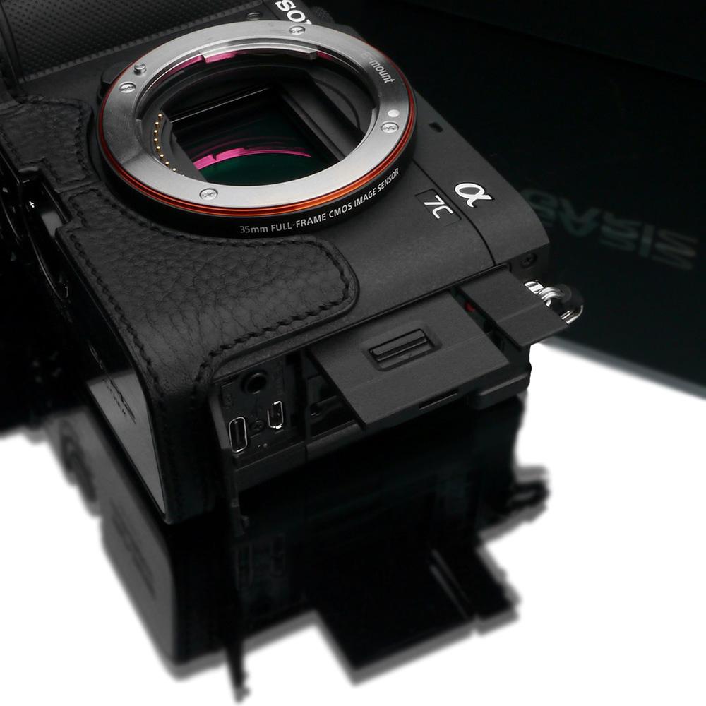 GARIZ SONY α7C 用 本革カメラケース XS-CHA7CBK ブラック