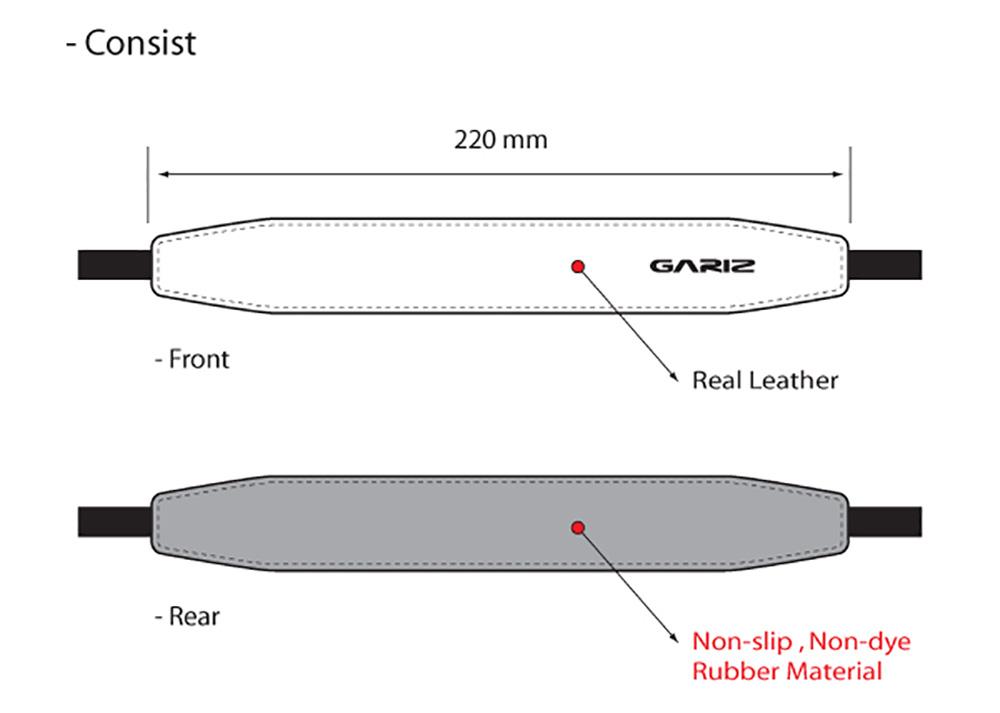 GARIZ 本革カメラネックストラップ XS-CHLSS グリーン