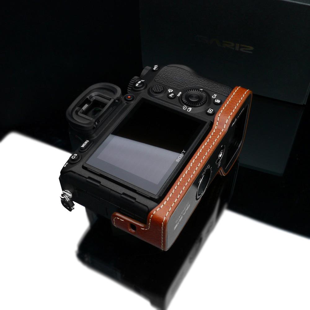 GARIZ SONY α7R IV 用 本革カメラケース XS-CHA7RM4CM キャメル