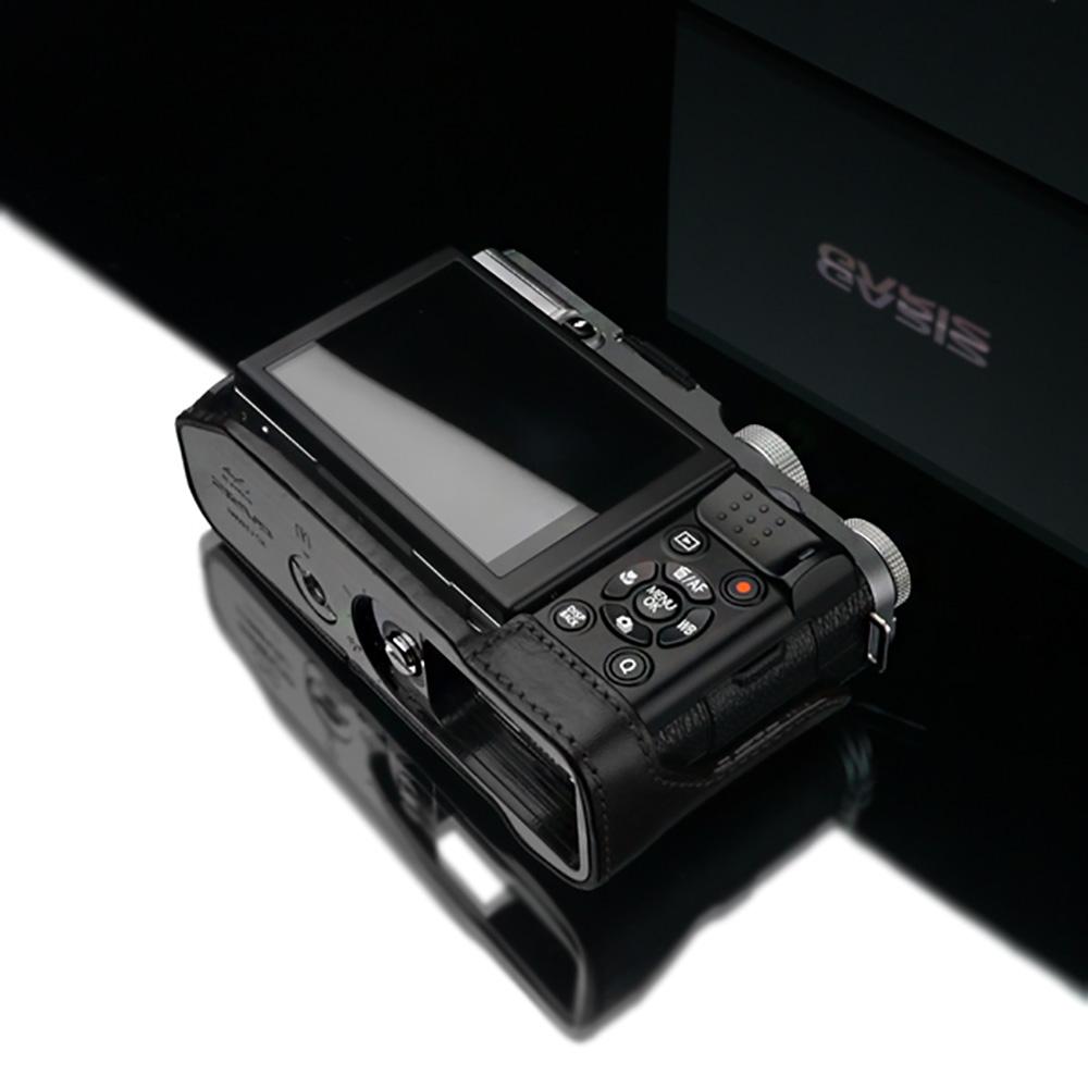 GARIZ FUJIFILM X-M1用 本革カメラケース HG-XM1BK ブラック
