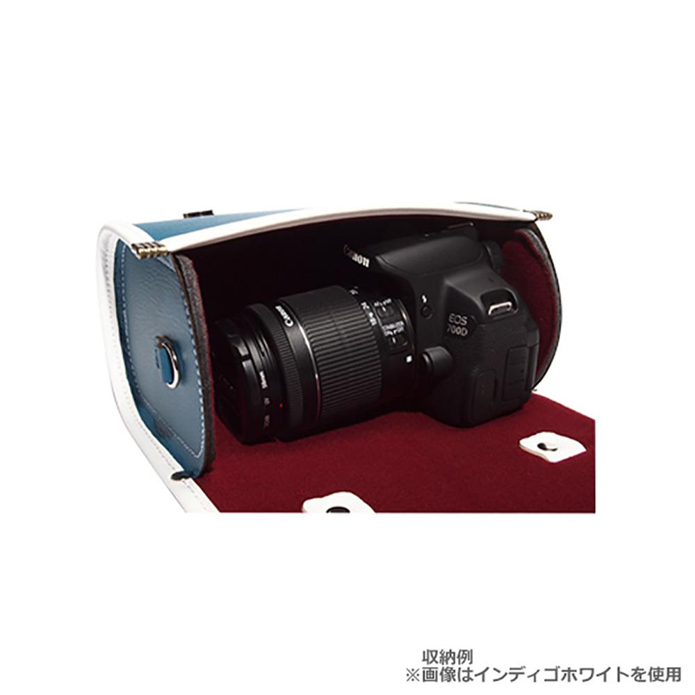 Elly Factory エリーファクトリー プレッピー カメラバッグ インディゴホワイト
