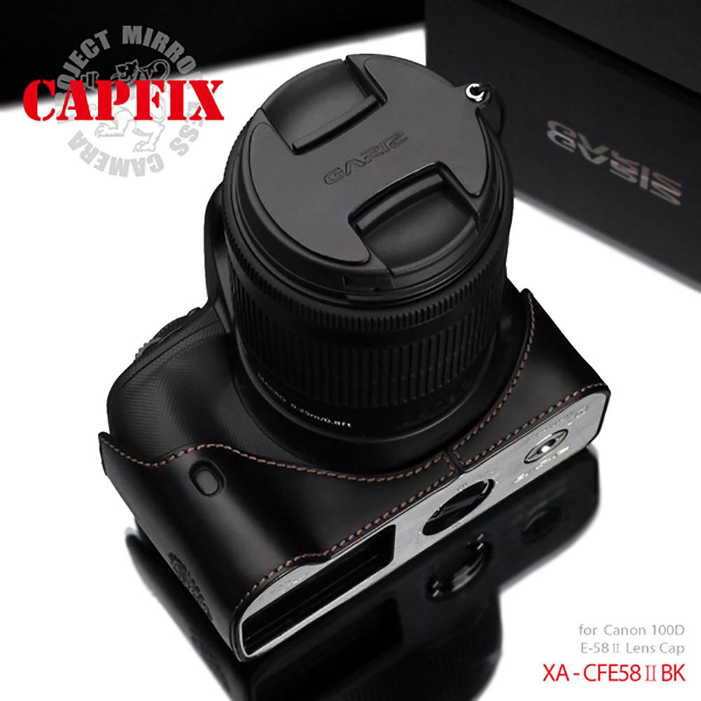 GARIZ Canon E-58II用 レンズキャップフィックス XA-CFE58IIBK ブラック