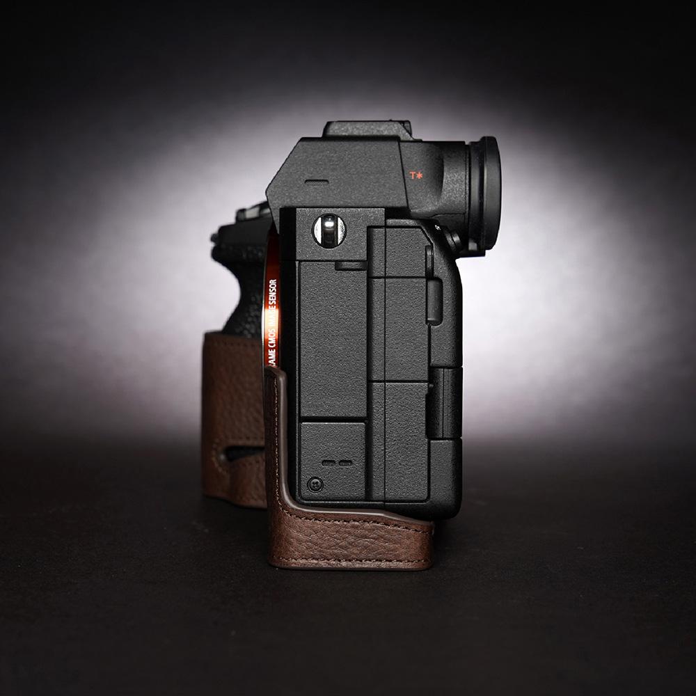 TP Original SONY α7S III 用 ボディーハーフケース ダークブラウン