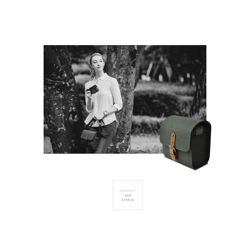 GARIZ ミラーレス一眼/コンパクトデジカメ用 ショルダーカメラバッグ CB-NCSBK ブラック