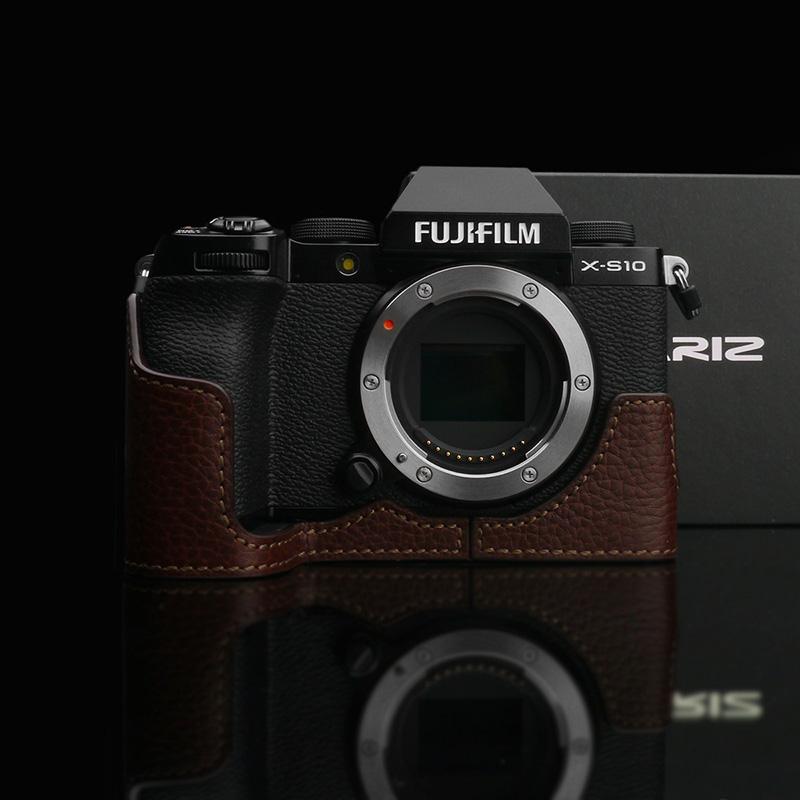 GARIZ FUJIFILM X-S10用 本革カメラケース XS-CHXS10BR ブラウン