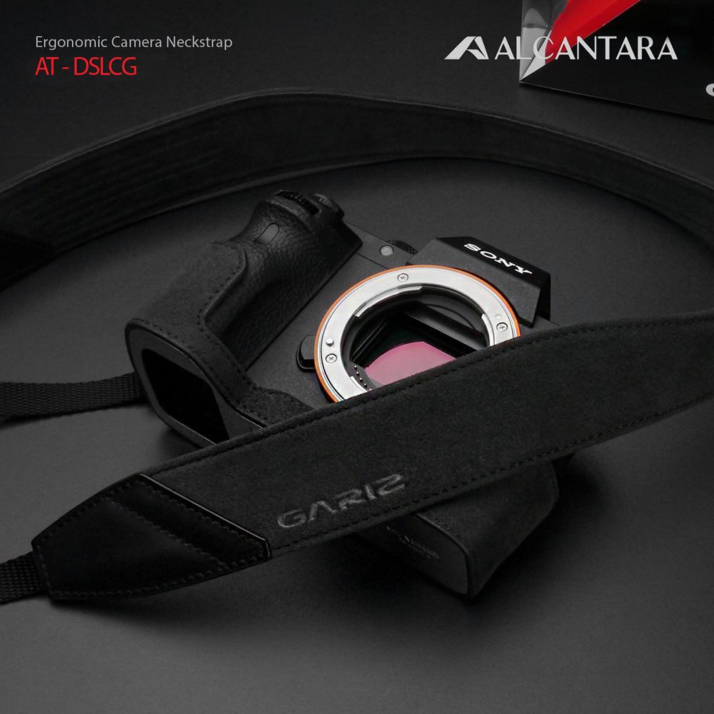 GARIZ Alcantara カメラネックストラップ AT-DSLCG チャコールグレー