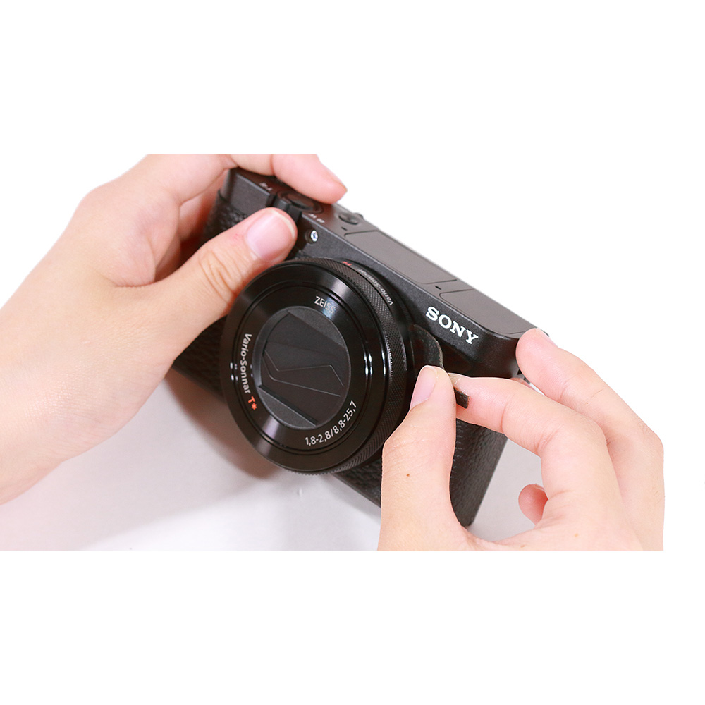 Japan Hobby Tool Sony Cyber Shot DSC-RX100M5 & M6 用張り革キット ブラック RX100M6-BK