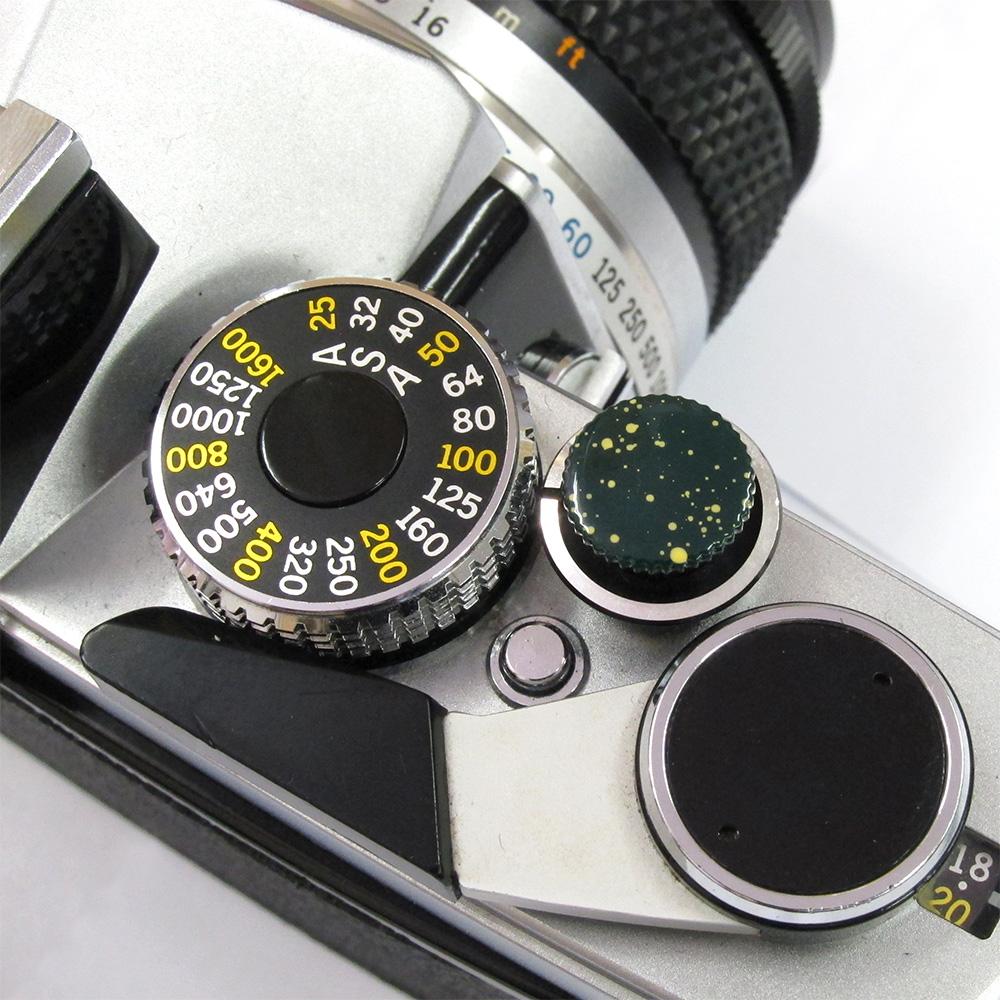 Kカンパニー レリーズボタン 10mm グリーンブラード/イエロー [ねじ込みタイプ]