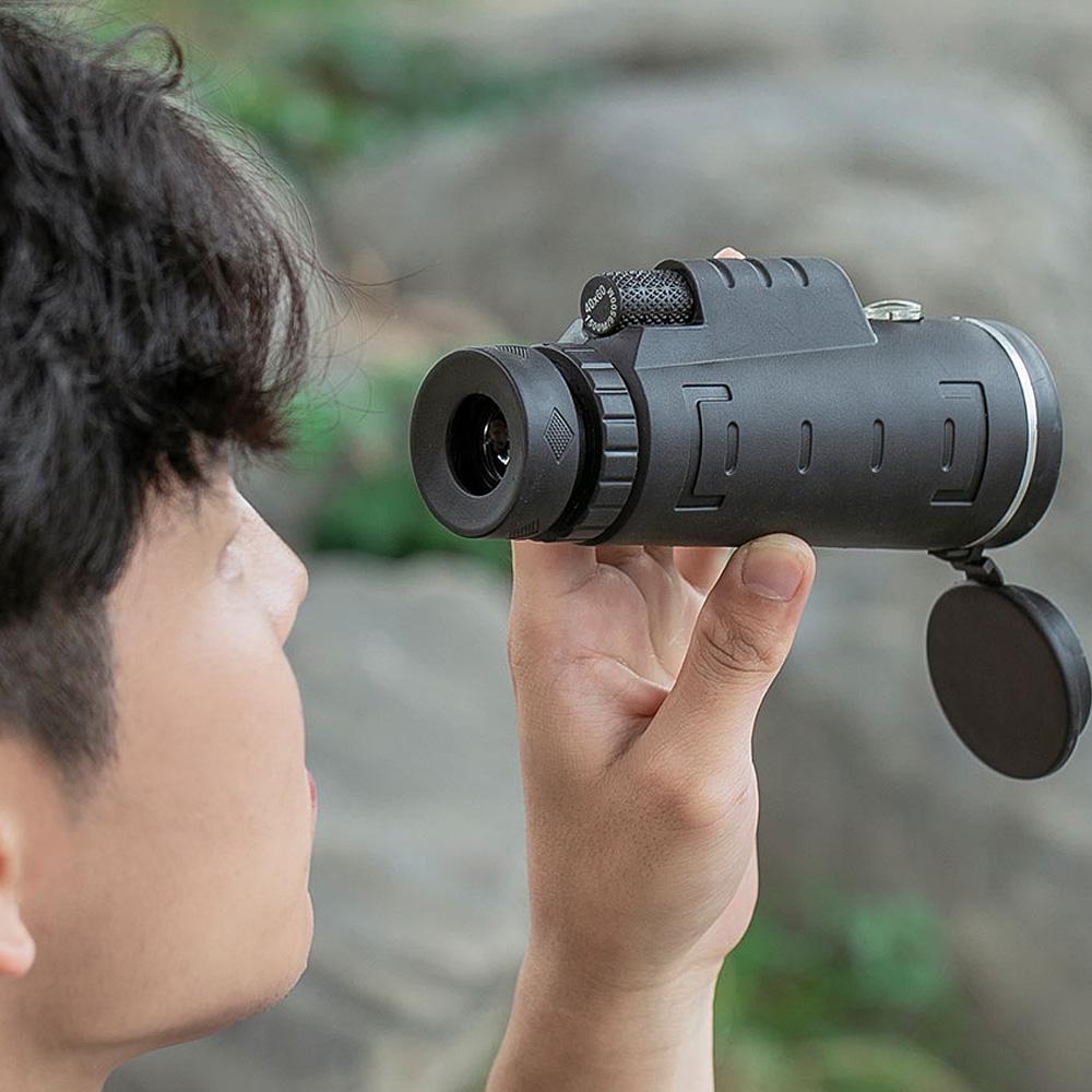 40-60倍 単眼鏡 ミニ三脚+スマホアダプターセット(専用ケース+ストラップ+クリーニングクロス付き)