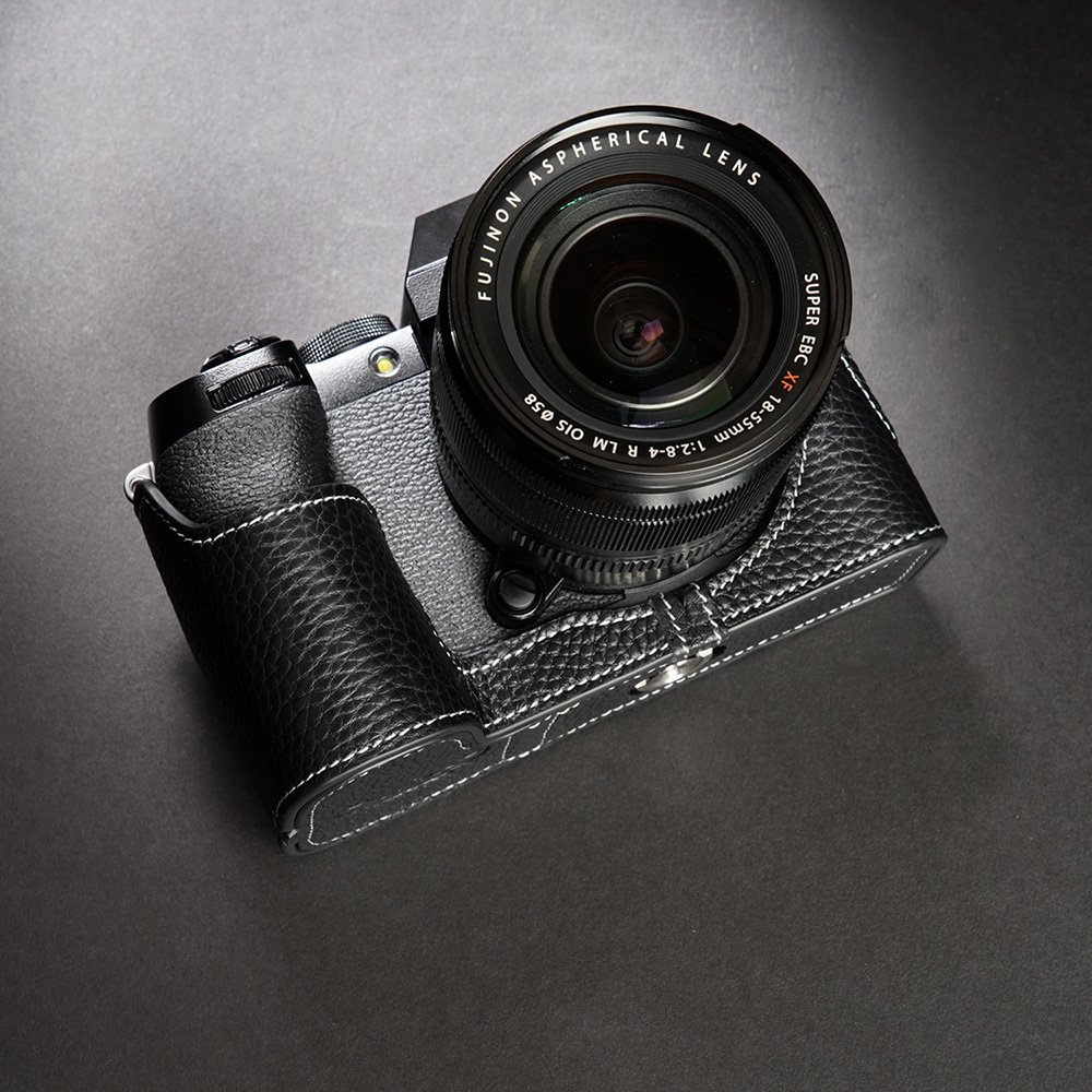 TP Original FUJIFIFILM X-S10 用 ボディーハーフケース ブラック