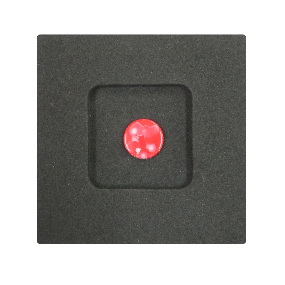 Kカンパニー レリーズボタン 10mm レッドブラード/ホワイト [ねじ込みタイプ]