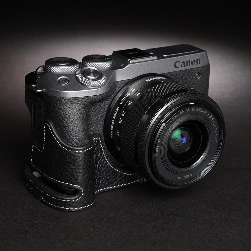 TP Original Canon EOS M6 Mark II 用 ボディーハーフケース ブラック