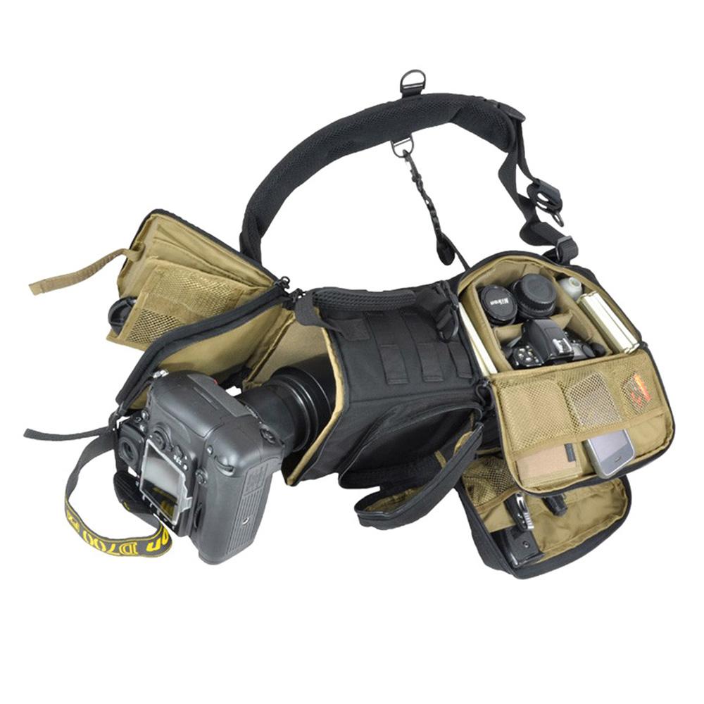 HAZARD4 一眼レフカメラ用 スリングカメラバッグ Photo-Recon - tactical optics sling pack (Black)